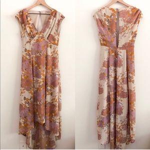 F21 • patterned midi dress